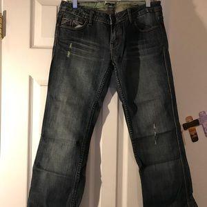 Worn once. Adorable design on back pockets